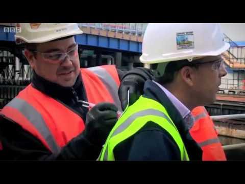 GGR's UNIC mini crane at Canary Wharf station on BBC Crossrail Documentary