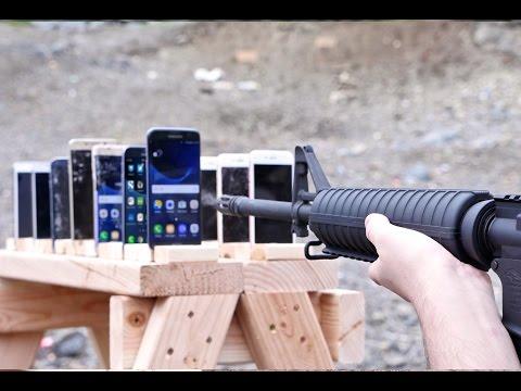 iphone vs samsung: ¿cuantos celulares se necesitan para frenar una bala?