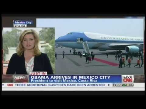 President Obama Air Force One Mexico City Mexico Arrival  May 2, 2013