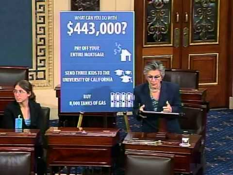 Senator Boxer Urges Senate Republicans to Support Equal Pay for Equal Work