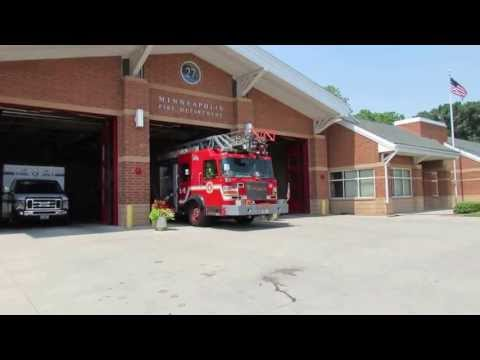 Minneapolis MN Fire Station 27 Responding, 7/7/13  - *Code 3*
