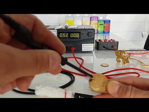 Gold Chrom Silber Galvaniksystem Aufbau und Zubehör