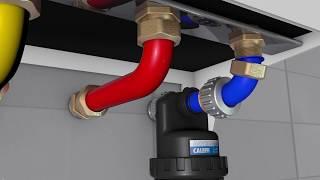 DIRTMAGSLIM® - Defangatore con magnete per installazione sottocaldaia