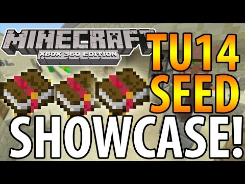 Minecraft (Xbox 360) - TU14 SEED SHOWCASE! - ENCHANTED BOOKS, 2 SANDSTONE VILLAGES + MORE!