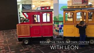 Riding the Cobb Town Center Mall Train with Leon!