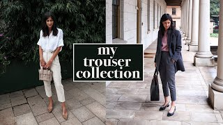 MY TROUSER COLLECTION: Wardrobe Try On (Topshop, Everlane, Country Road, Grana etc) | Mademoiselle