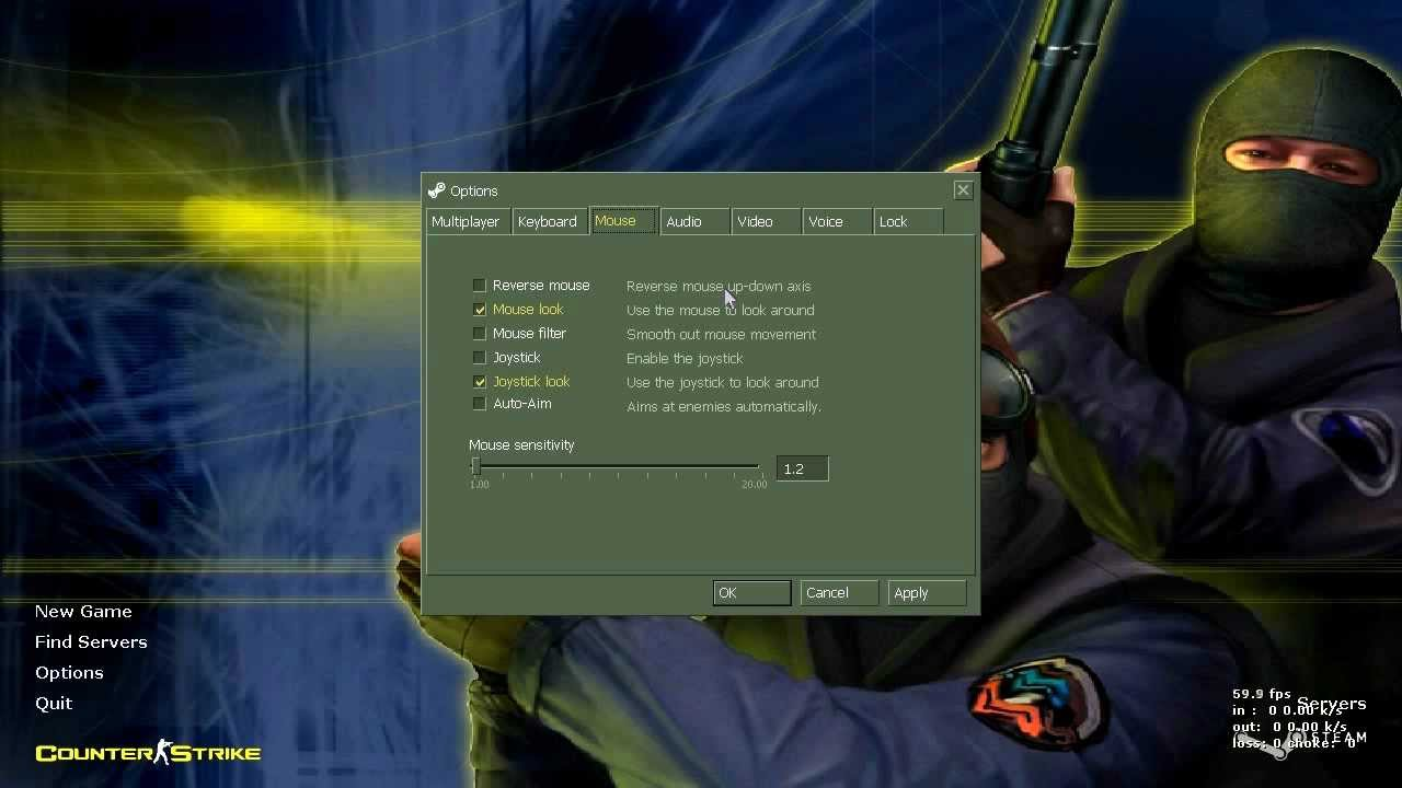 ek $ics counter-strike 101/options/mouse-keyboard-audio - YouTube