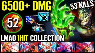 Real IMBA Dota 2 WTF 6500+ Dmg LION Finger of Death - Brutal 53 KILL