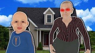 Evil Granny Kicks Baby Out Window! - Granny Simulator Gameplay