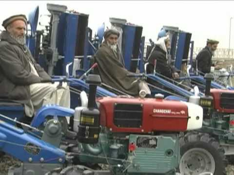 USAID Helps Distribute Tractors to Afghan Farmers