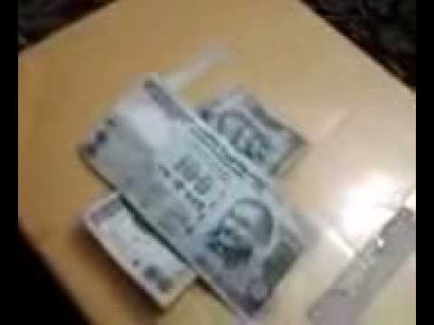 Indian Currency of Rupees Hundred decorated as plus sign