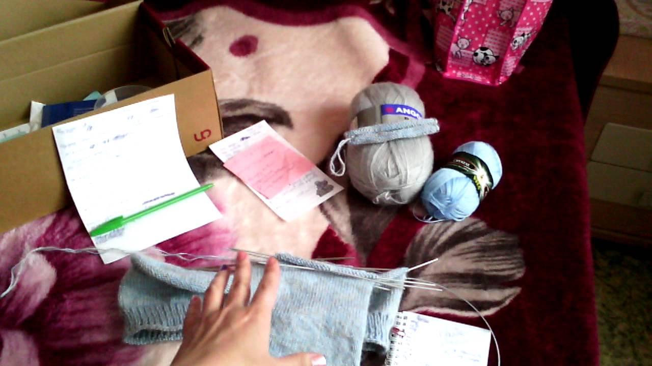 Вязание реглан снизу видео