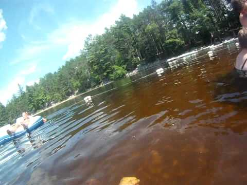Swimming in Papoose Pond, Waterford, Me