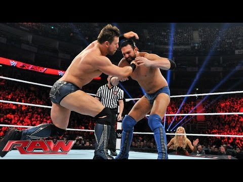 Damien Mizdow Vs. The Miz: Raw, April 13, 2015 video