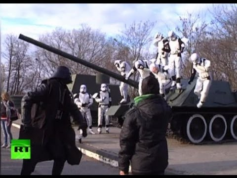 Video: Darth Vader, stormtroopers wage war against drugs in Ukraine