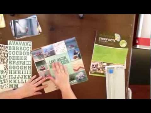 Scrapbook Process Video: Scrapbook Layout with 9 Photos (2 ways); Day 25 / 30 Days SB Videos