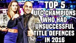 Download 5 UFC Champions Who Had Unsuccessful Title Defences in 2016 3Gp Mp4
