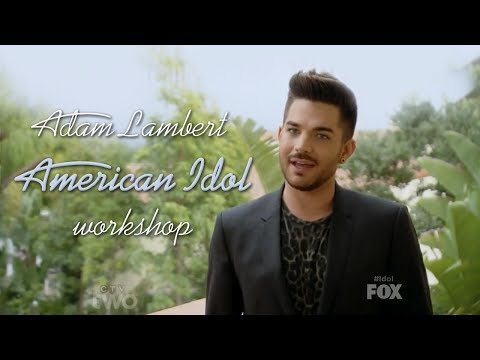 HD Adam Lambert as a mentor - American Idol Workshop 2014-02-19 (Only Adam's parts)