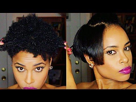 howto straighten twa natural hair youtube