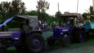 Mahindra tractor fails ट्रैक्टर ऐक्सिडेंट funny divide into 2 parts