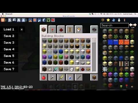 Too Many Items Mod Minecraft 1.5.1/1.5.2 [Mac]