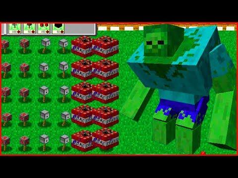 Майнкрафт напал на растение против зомби смотреть Minecraft Plants vs zombie От Фаника 8