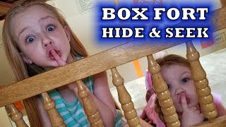 HIDE AND SEEK CHALLENGE in a HUGE Box Fort!!!
