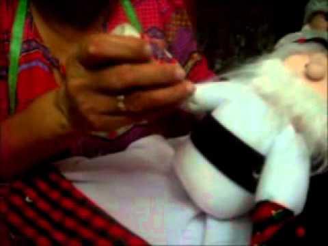 Como hacer un muñeco de navidad - Parte 5