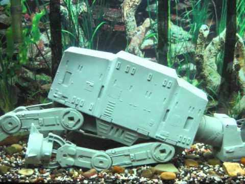 Star wars imperial assault on hoth fish tank youtube for Star wars fish