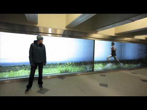 ASICS Interactive Video Wall Ad Lets You Race A Marathon Runner