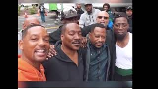 Will Smith meets up with Martin Lawrence and Eddie Murphy at Tyler Perry Studios