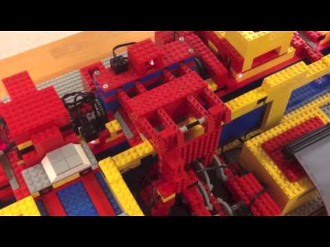 The LEGO car factory