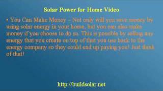 Home Solar Panel - Instructive Free Advice