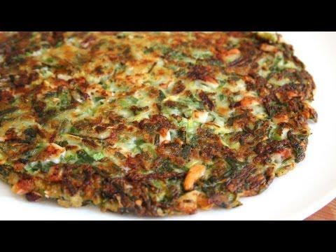 Korean style vegetable pancake (