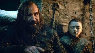 Sandor  Clegane and Arya discussion | Game of Thrones S08E02