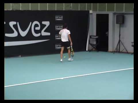 Francesca Schiavone practice in Paris indoors 2009 2 Video