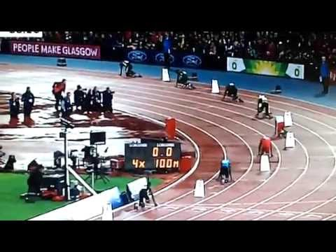 Men's 4x100m Relay Final (Usain Bolt) | Commonwealth Games Glasgow 2014