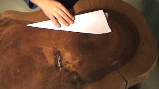 fabrication d'un avion en papier