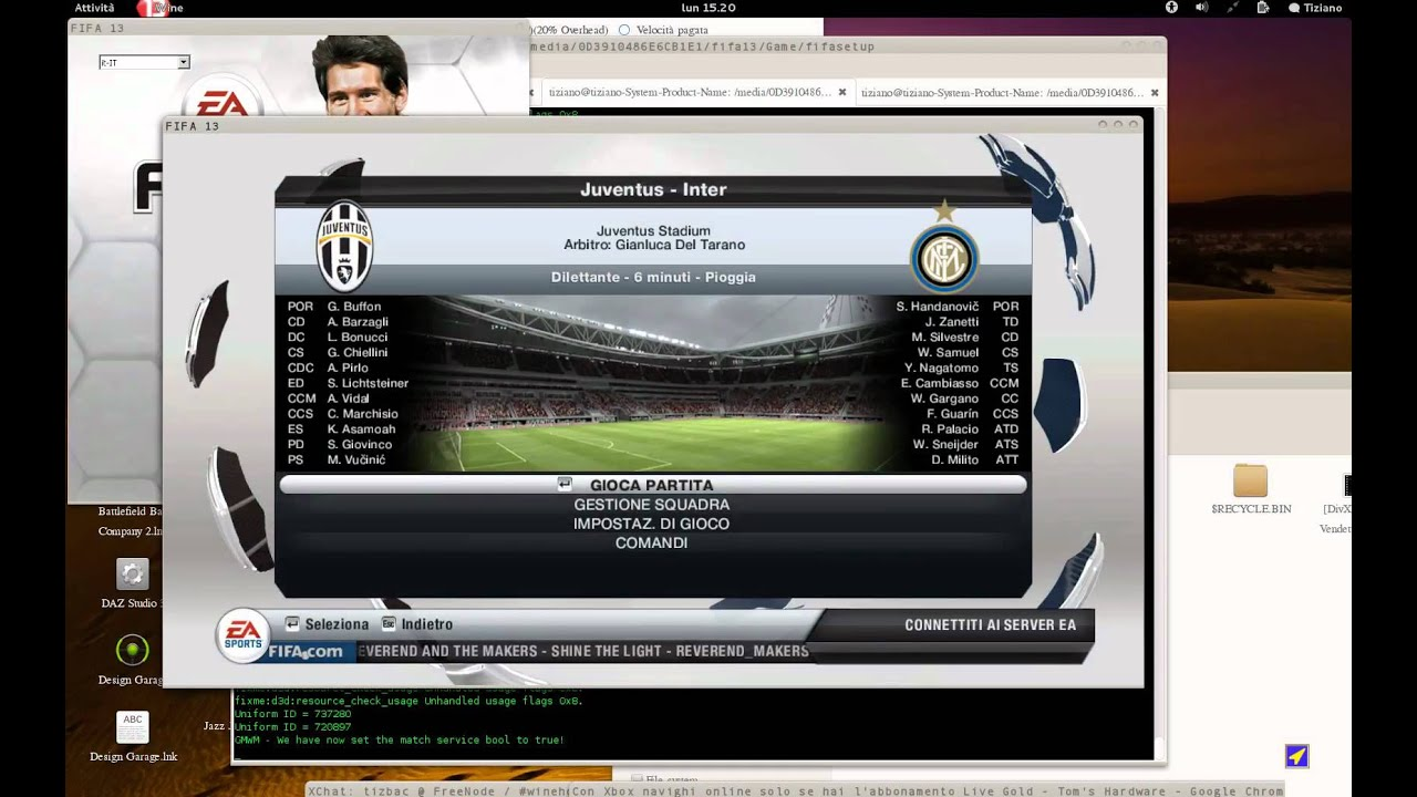 FIFA 13 Running on linux , tunngle_setup_v4.3.2.0 играть в fifa 10 скачать