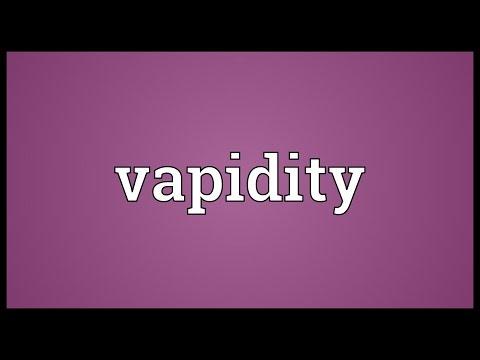 Header of vapidity