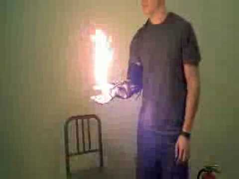 Home Made Wrist-Mounted Flamethrower - The Prometheus Device