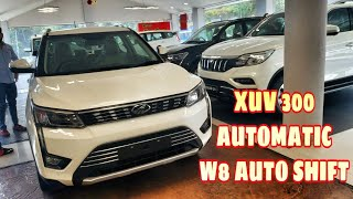 Xuv 300 Automatic AMT  W8 TOP Auto Shift   Pearl white   Fully Loaded with Sunroof Review opinion