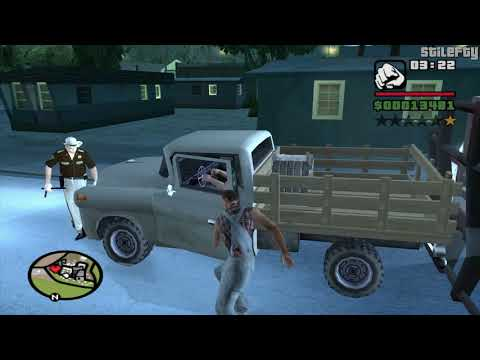 GTA San Andreas - CJ talks to people in the Counties (1080p)