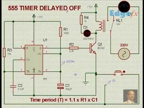 555 Timer Delay off Circuit with Circuit    Diagram      555