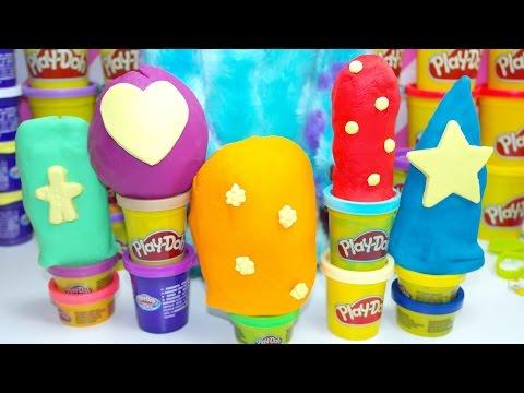 Spongebob Barbie Play Doh Peppa Pig Surprise Eggs Cars 2 Frozen Toys video