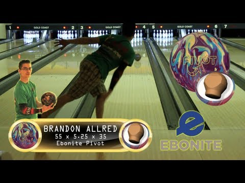 Ebonite Pivot Bowling Ball Thrown By Brandon Allred Of K&amp K Bowling Services