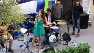 Beautiful Thai Girl Singer rocks Rangsit Future Park , Bangkok  , Thailand