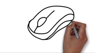 How to Draw a Computer Mouse Step by Step|Learn Drawing