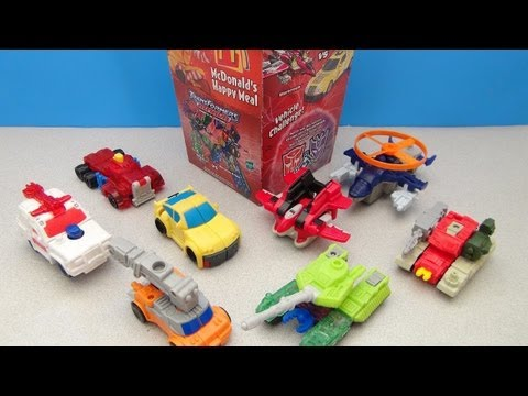 MCDONALDS TRANSFORMERS ARMADA HAPPY MEAL COLLECTION VIDEO