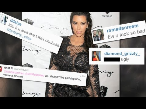 KIM KARDASHIAN CALLED FAT, UGLY BAD MOTHER ON TWITTER
